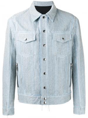 Декорированная джинсовая куртка Balmain. Цвет: синий