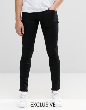 Brooklyn Supply Co. Черные джинсы с необработанными краями Co Hunters. Цвет: черный