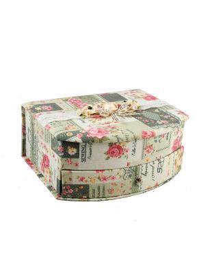 Шкатулка для ювелирных украшений Русские подарки. Цвет: темно-серый,бледно-розовый,розовый