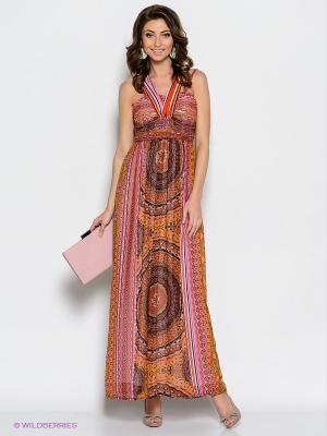 Платье TOPSANDTOPS. Цвет: сиреневый, красный, черный