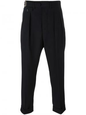 Укороченные брюки Wooster + Lardini. Цвет: синий