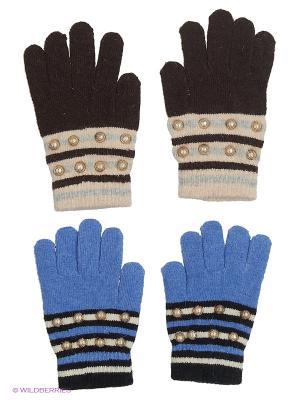 Перчатки FOMAS. Цвет: темно-коричневый, голубой, светло-бежевый, черный