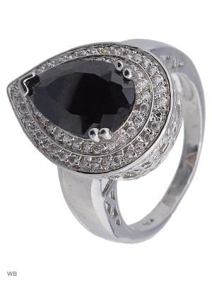 Кольцо ACCENT jewelry. Цвет: серебристый, кремовый, серо-зеленый