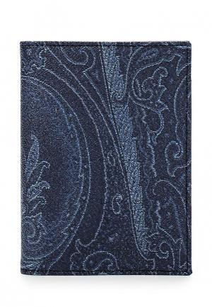 Обложка для документов Etro. Цвет: синий