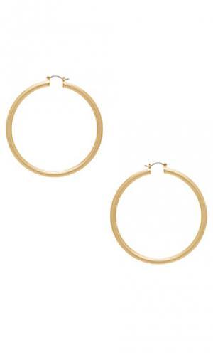 Серьги-кольца infinity 8 Other Reasons. Цвет: металлический золотой