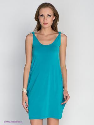 Платье DRS Deerose. Цвет: морская волна