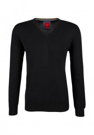 Пуловер s.Oliver. Цвет: черный