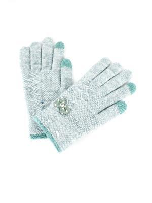 Перчатки 1Azaliya. Цвет: бирюзовый