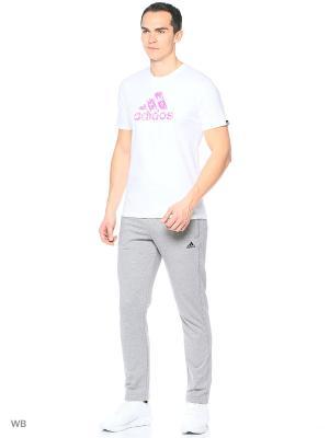 Футболка GRAPHIC TEE Adidas. Цвет: розовый, белый