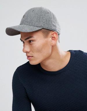Jack Wills Серая кепка с добавлением шерсти и логотипом Collier. Цвет: серый
