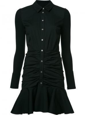 Платье-рубашка с расклешенным подолом Veronica Beard. Цвет: чёрный