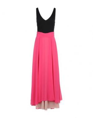 Длинное платье MICHAEL DASS. Цвет: фуксия