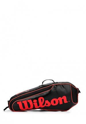 Чехол для ракеток Wilson. Цвет: черный