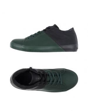 Низкие кеды и кроссовки LEATHER CROWN. Цвет: темно-зеленый