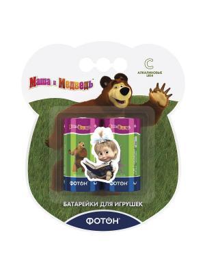 Батарейки С Маша и медведь + наклейка Фотон. Цвет: зеленый