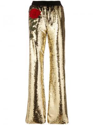 Широкие брюки  Scotty Orita Philipp Plein. Цвет: металлический