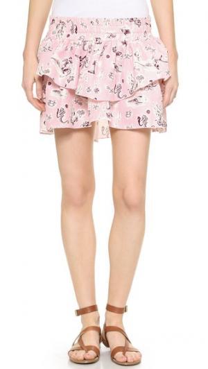Мини-юбка Carrie Piamita. Цвет: розовая русалка