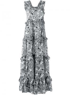 Длинное платье с принтом пейсли Dodo Bar Or. Цвет: чёрный