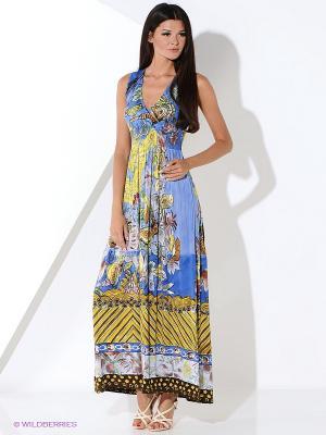 Платье Malvin. Цвет: голубой, хаки