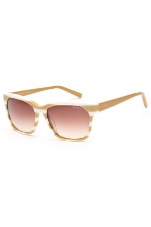 Очки солнцезащитные Esprit. Цвет: бежевый, белый
