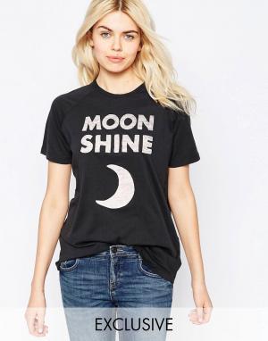 Chorus Футболка с рукавами реглан Moon Shine. Цвет: черный