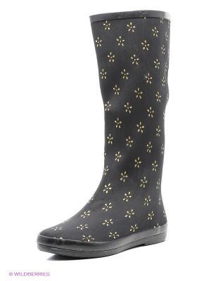 Резиновые сапоги Mon Ami. Цвет: черный, желтый