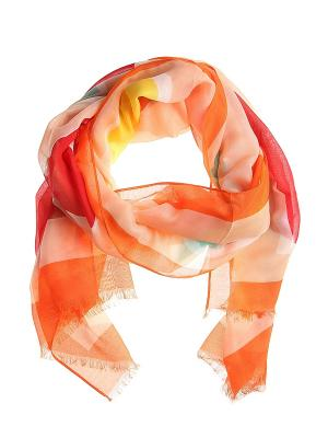 Платок Migura. Цвет: оранжевый, белый, желтый, красный