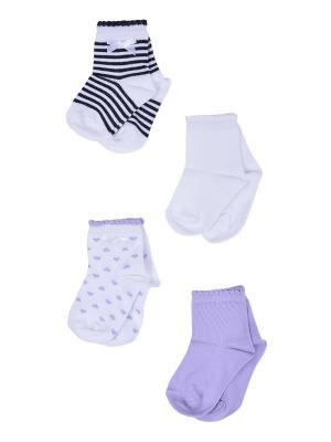 Носки, 4 пары Malerba. Цвет: черный, сиреневый