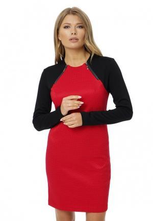 Платье Gloss. Цвет: красный