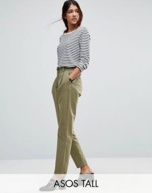 ASOS Tall Выбеленные брюки-галифе. Цвет: зеленый