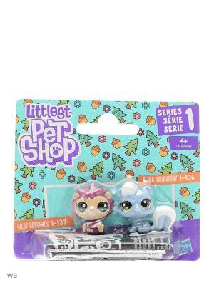 Набор два пета Littlest Pet Shop. Цвет: голубой, фиолетовый