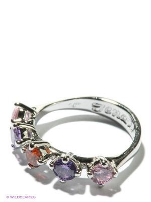 Кольцо Jenavi. Цвет: серебристый, сиреневый, розовый