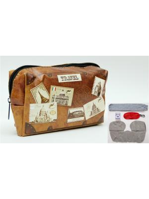 Набор в чехле из полиэстера Почтовые марки Magic Home. Цвет: коричневый