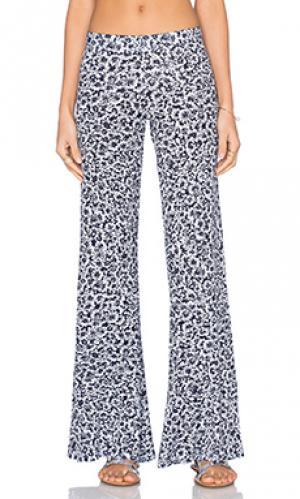 Широкие брюки derby Michael Lauren. Цвет: синий