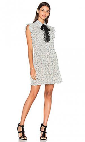 Платье-рубашка paxton WAYF. Цвет: синий