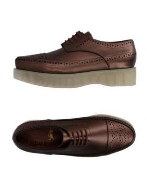 Обувь на шнурках F-TROUPE. Цвет: бронзовый