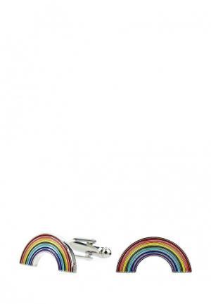 Запонки Churchill accessories. Цвет: разноцветный