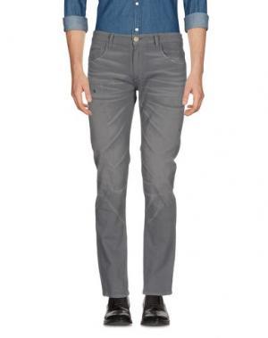 Повседневные брюки ONE SEVEN TWO. Цвет: свинцово-серый
