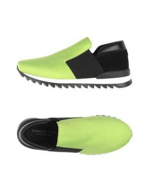 Низкие кеды и кроссовки FABRIZIO CHINI. Цвет: кислотно-зеленый