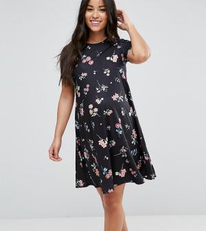 ASOS Maternity Свободное платье для беременных с цветочным принтом. Цвет: мульти