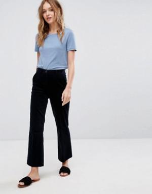 MiH Jeans Укороченные расклешенные брюки Coler. Цвет: темно-синий