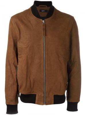 Куртка-бомбер на молнии Blood Brother. Цвет: коричневый