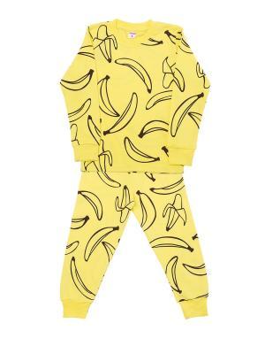 Костюм: брюки, джемпер Sladikmladik. Цвет: желтый