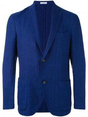 Пиджак в стиле casual Boglioli. Цвет: синий