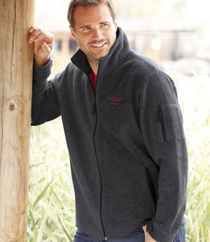 Куртка из Флиса «Канада» AFM. Цвет: серыи
