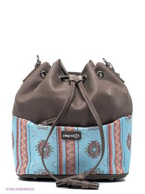 Рюкзак Dispacci. Цвет: серо-коричневый, голубой