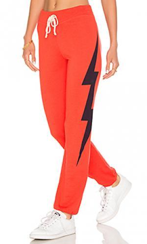 Легкие прочные спортивные брюки SUNDRY. Цвет: оранжевый