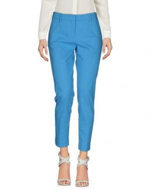 Повседневные брюки TRUE ROYAL. Цвет: лазурный