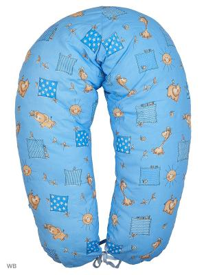 Подушка многофункциональная для беременных FEST. Цвет: синий, бежевый