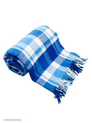 Плед РУНО. Цвет: синий, голубой, молочный